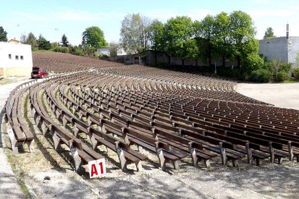 Pohľad na časť nitrianskeho amfiteátra. Naposledy tu premietali v roku 2008.