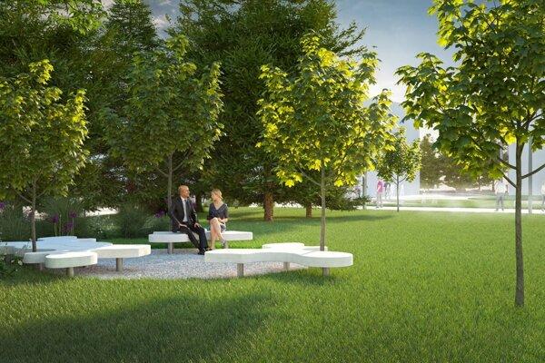 Do parku na námestí pribudnú tri lavičky a zeleň,  konkrétnemu usporiadaniu parkového sedenia dalo hlas 980 ľudí.
