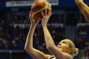 Jelena Levčanková v drese Good Angels Košice v januári 2014.