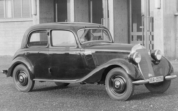 Pôvodný vzhľad predvojnového Mercedesu 170 V.