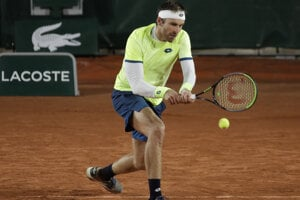 Norbert Gombos na Roland Garros 2020.