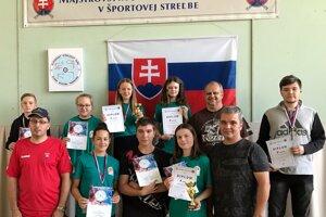 Strelci ŠSK Strieborník Zvolenská Slatina počas majstrovstiev Slovenska