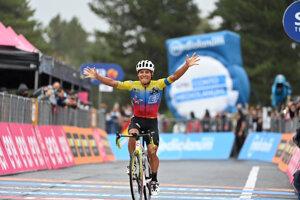 Jonathan Caicedo vyhral 3. etapu na Giro d'Italia 2020.