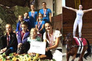 Výprava TJ Slávia SOUP Šaľa získala na M-SR tri medaily. Vpravo v akcii Lea Hakszer.