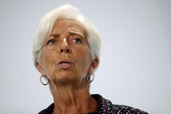 Christine Lagardeová, prezidentka Európskej centrálnej banky.