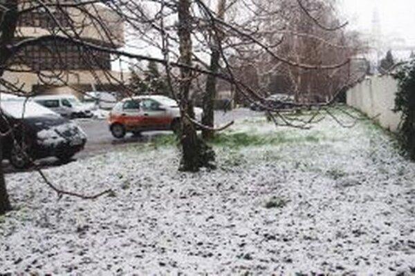 Aj Nitranov dnes prekvapilo husté sneženie.