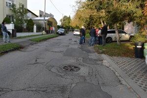 Na Gaštanovej ulici sa v týchto dňoch začnú práce na oprave cesty.