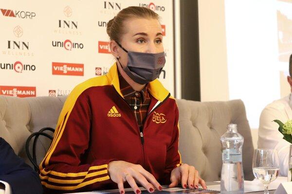 : Olympijská víťazka v biatlone a ambasádorka kolieskovej dráhy na Králikoch Anastasia Kuzminová