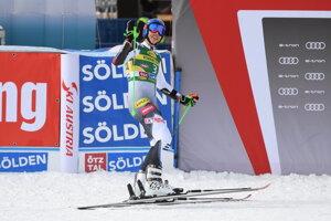 Petra Vlhová - lyžovanie, obrovský slalom, Sölden 2020.