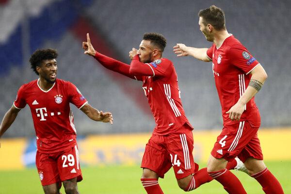 Radosť futbalistov Bayernu Mníchov.
