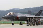 Americké stíhacie lietadlo F-35.