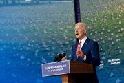 Kandidát na amerického prezidenta Joe Biden počas svojho prejavu vo Wilmingtone v štáte Delaware.