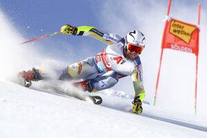 Aleksander Aamodt Kilde počas obrovského slalomu v Söldene 2020.