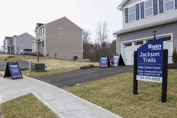 Predaj nových domov v USA v septembri nečakane klesol