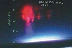 Prvý farebný záber škriatka v atmosfére Zeme.