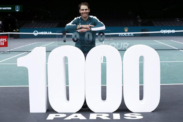 Rafael Nadal dosiahol na okruhu ATP tisíc víťazstiev.