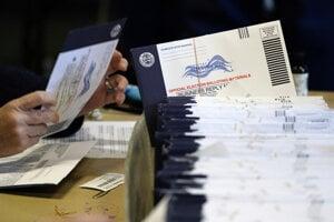 Sčítavanie hlasov vo West Chesteri.