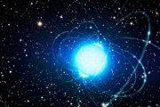 Vizualizácia magnetaru, extrémne magnetickej neutrónovej hviezdy.