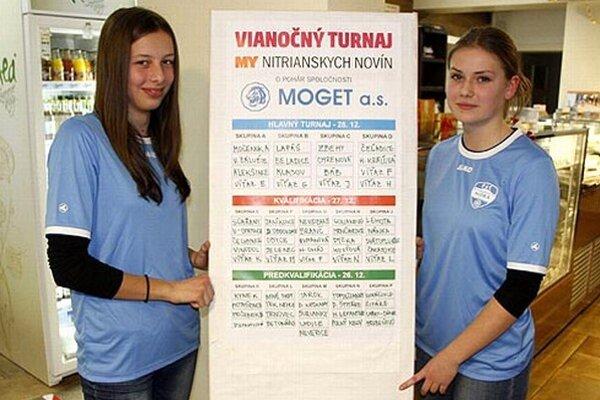 Na turnajovom žrebe asistovali futbalistky FC Nitra Katka Košlabová a Veronika Ferencziová.