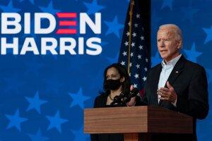 Kandidát na prezidenta Joe Biden.