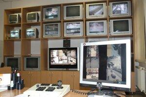 Kamerový systém v novej časti mestskej polície z roku 2009.