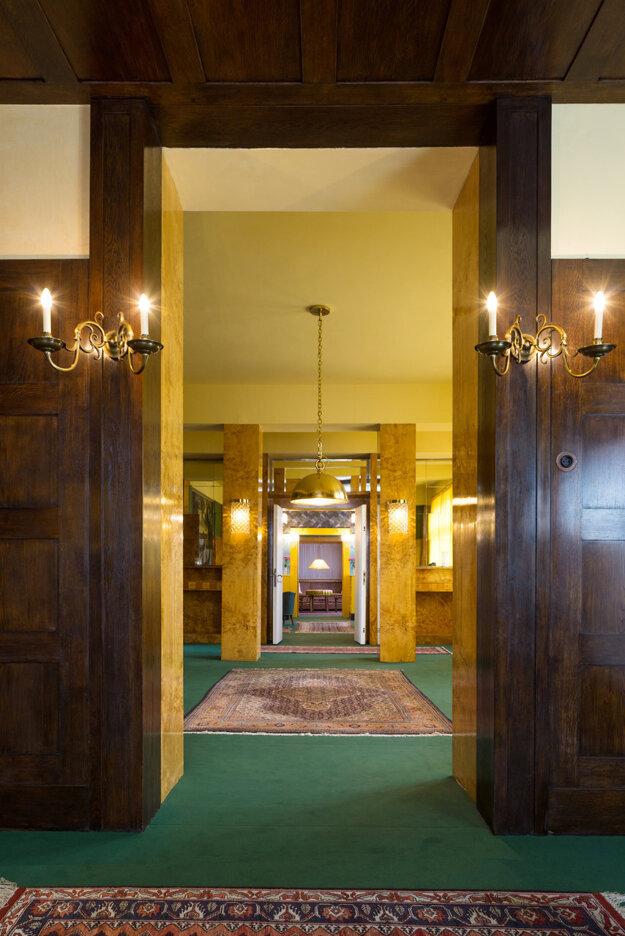 Interiér v dome rodiny Brumelovcov