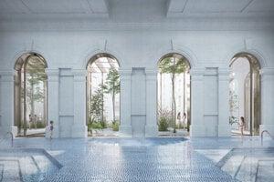 Víťazný návrh na prestavbu kúpeľov Grossling