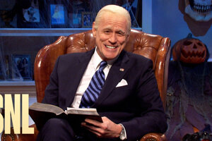 Jim Carrey ako Joe Biden v šou Saturday Night Live.