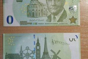Nulová bankovka s Michalom Bosákom a Bosákovou bankou.