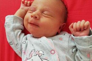 Rebeka Beňová (3330g, 50cm) sa narodila 28. októbra Kataríne a Timotejovi z Lednických Rovní