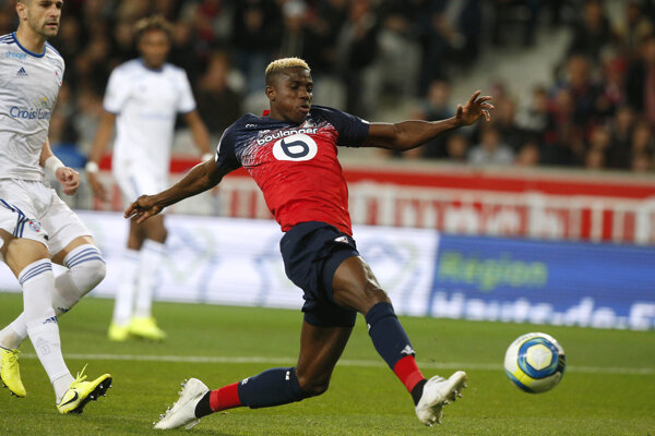 Momentka zo zápasu francúzskej Ligue 1.