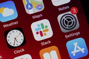 Logo platformy Slack.