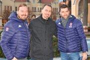 Zľava: herec Lukáš Pelč, prezident SZĽH Miroslav Šatan a šéf marketingu SZĽH Peter Janovský.
