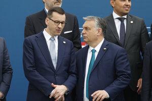 Poľský premiér Mateusz Morawiecki a maďarský premiér Viktor Orbán.