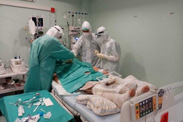 COVID pavilón žilinskej Fakultnej nemocnice s poliklinikou.