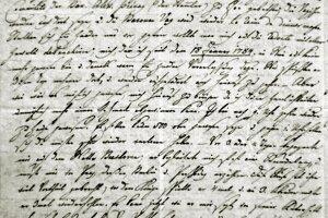 List viedenského sekretára Johana Daniela Ribiniho, rodeného Prešporčana.