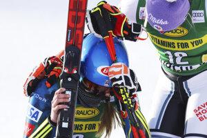 Dojatá Mikaela Shiffrinová po víťazstve v Courcheveli.