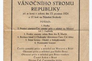 Pozvánka z roku 1924.