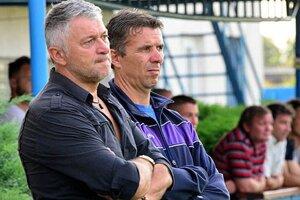 Ladislav Molnár (vľavo) s asistentom Oskarom Lanczom.