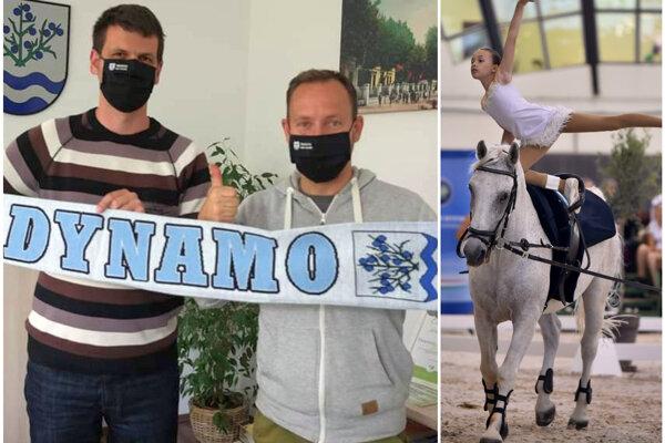 Trnovcu nad Váhom robia skvelú reklamu futbalisti vedení starostom Oliverom Bereczom (na fotke prvý zľava) a šéfom klubu Vladimírom Klinckom, ale meno má i tunajší voltížny klub.