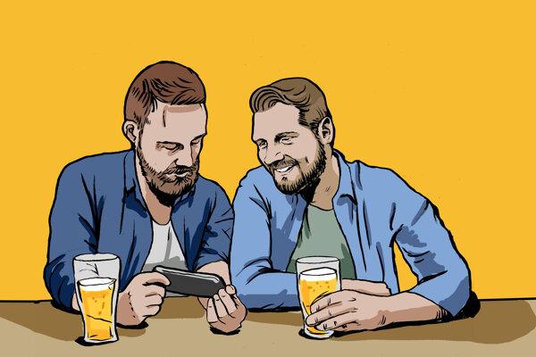 Autorská dvojica projektu Hej, Ty! Branislav Tomčík (vľavo) a Filip Györe.