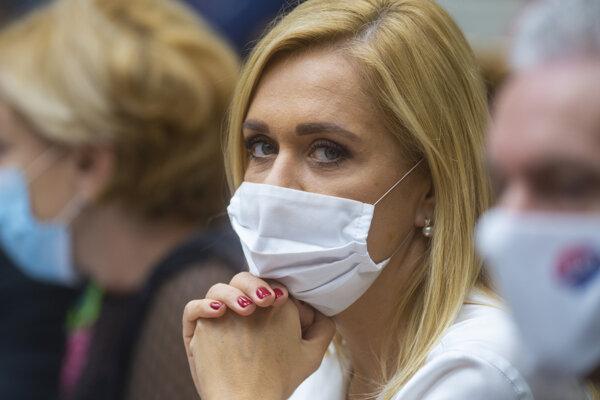 Nezaradená poslankyňa NR SR Denisa Saková.