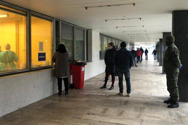 Antigénové testovanie na Okresnom úrade v Považskej Bystrici