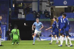 Kevin de Bruyne (Manchester City) po góle do siete Chelsea.