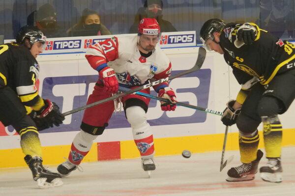 V strede, kapitán Liptákov Rudolf Huna v zápase proti Detve.