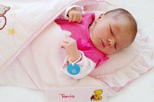 Tamia Bonišová z Handlovej sa narodila 13.12. v Bojniciach