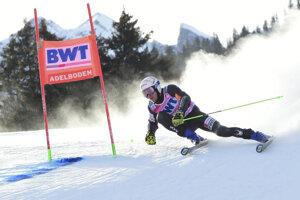 Adam Žampa počas obrovského slalomu mužov v rámci Svetového pohára vo švajčiarskom Adelbodene.