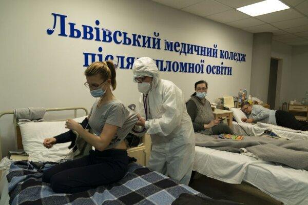 Nemocnica v ukrajinskom meste Ľvov.