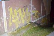 Graffiti v Považskej Bystrici.