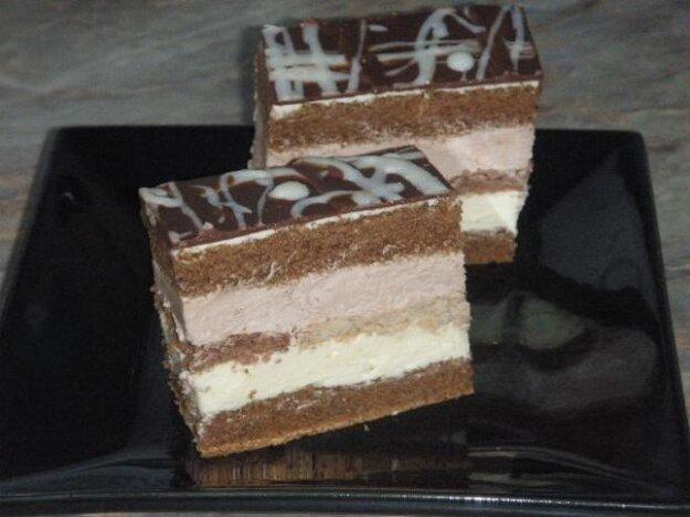 Zákusok s bielou čokoládou